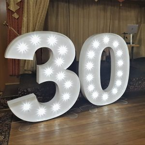 Best proposals ever, Lily Special Events light up 5ft letters