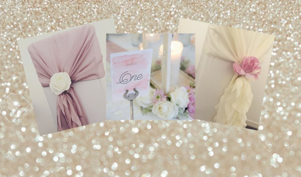 Chiffon chair hoods ruffles, hire Glasgow, Lily Special Events