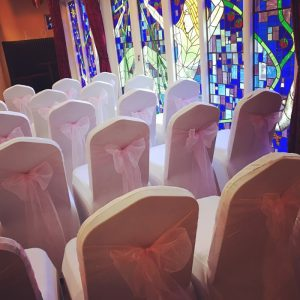 Wedding Decor hire chair covers, bows, centrepieces, Led letters, post box, wishing tree, hire, Glasgow, Lanarkshire
