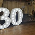 Large LED Letters Wedding venue dressing