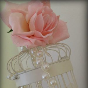 Centrepieces and decor Pink birdcage centrepieces, wedding, hire, glasgow, lanarkshire, decor
