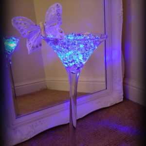 Centrepieces and decor Martini vase centrepieces, wedding, hire, glasgow, lanarkshire, decor