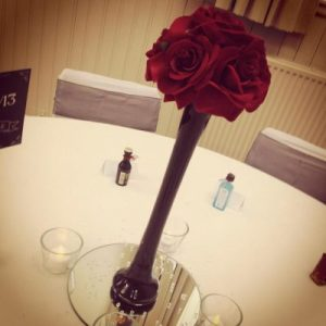 Centrepieces and decor Red roses centrepieces, wedding, hire, glasgow, lanarkshire, decor