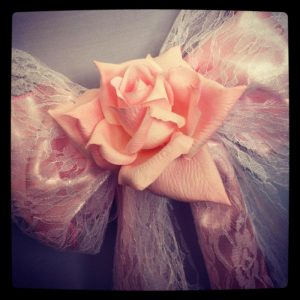 Wedding decorations, Wedding Decor hire Lace bows, hire wedding decor, Lanarkshire