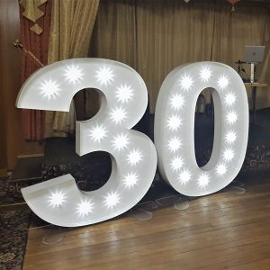 Light up LED large 5ft numbers 30th