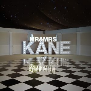 5ft LED light up letter hire, Glasgow