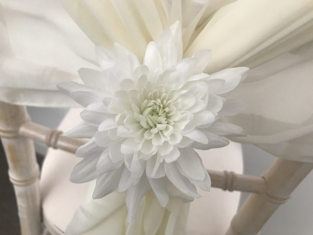 Chiavari wedding chair decorations, Lily Special Events